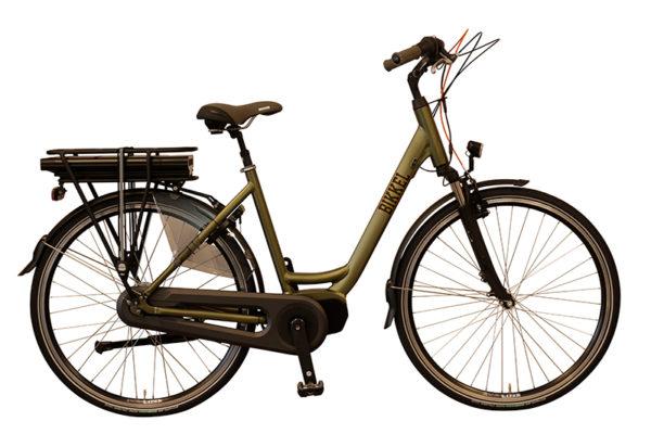 E-Bike Bikkel ibee Vida Mat olijfgroen